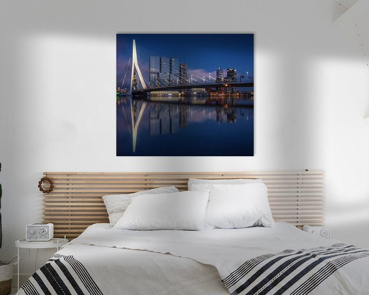 Sfeerimpressie: Rotterdam skyline reflections van Ilya Korzelius