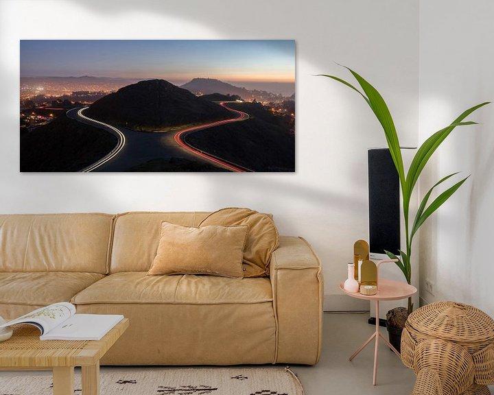Sfeerimpressie: Twin Peaks, San Francisco van Photo Wall Decoration
