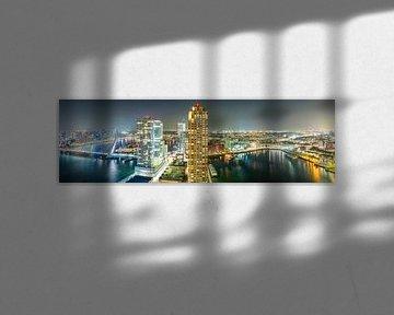 Skyline Rotterdam van Rien van Bodegom