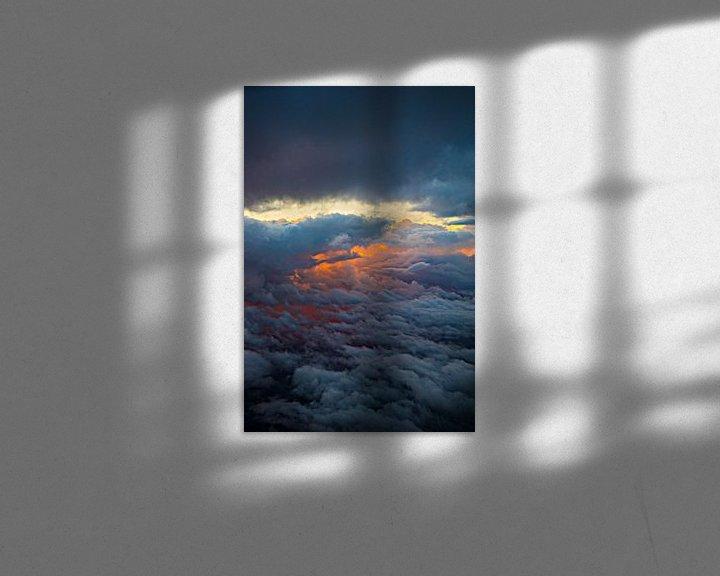 Beispiel: Ansicht von oben genanntem auf Wolken feiern mit untergehender Sonne von Fred Leeflang