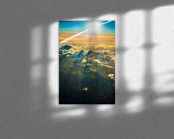 Sonnenuntergang mit Wolkenparty über den Pyrenäen von Fred Leeflang