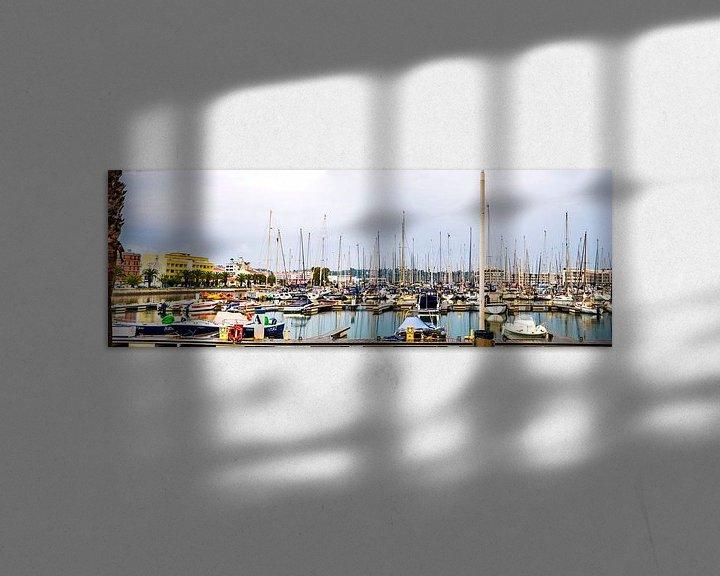 Beispiel: Panorama des Hafens in Lagos, Portugal von Fred Leeflang