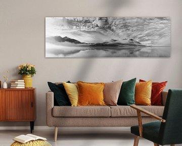 Ochtendmist panorama van Marloes van Pareren