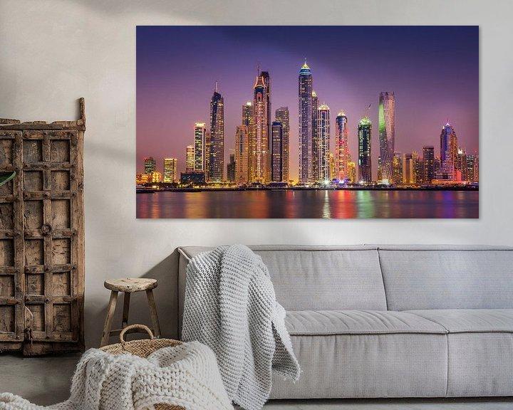 Sfeerimpressie: Dubai Marina skyline van Albert Dros