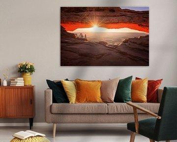Mesa Arch, Canyonlands van Albert Dros