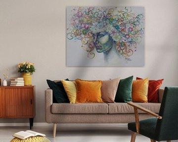 Bloemenmeisje von Helma van der Zwan