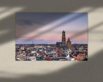 Utrecht - Bunte Sonnenuntergang von Thomas van Galen