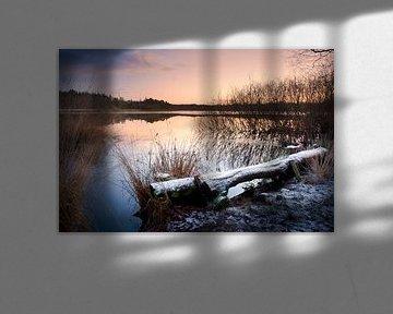 Sonnenaufgang am fen Hazenputten, Nijnsel, The Netherlands von Christa Thieme-Krus