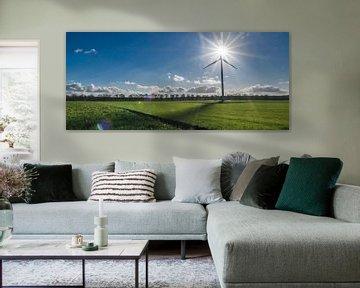 Windenergie, eine sonnige Gefühl von Pascal Raymond Dorland