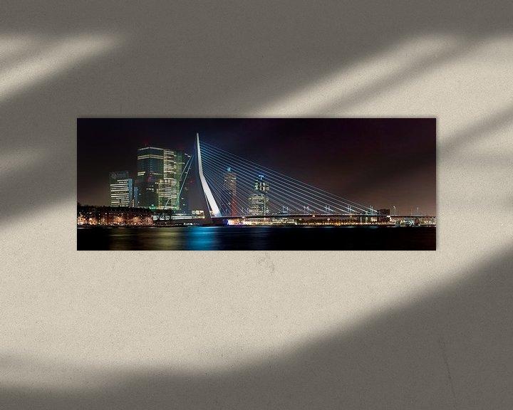 Sfeerimpressie: Panorama Erasmusbrug en de Rotterdam van Anton de Zeeuw