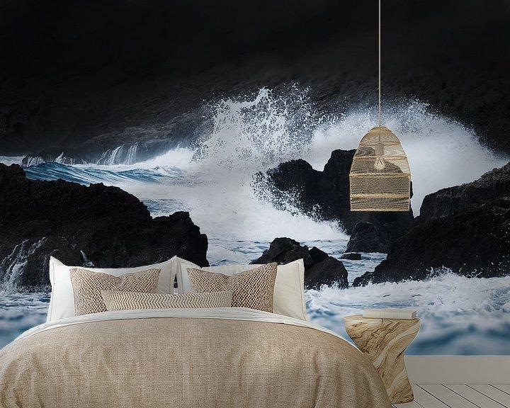 Sfeerimpressie behang: Waves I van Herbert Seiffert