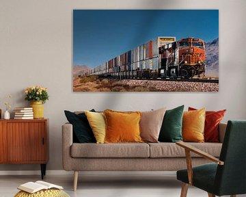Güterzug der BSNF in Kalifornien van Kurt Krause