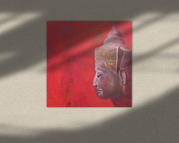 Roter Buddha von Helma van der Zwan