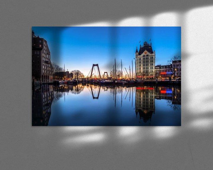 Sfeerimpressie: Oude haven in het blauwe uur van Prachtig Rotterdam