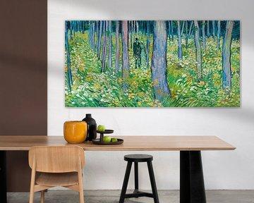 Unterholz mit zwei Figuren - Vincent van Gogh.