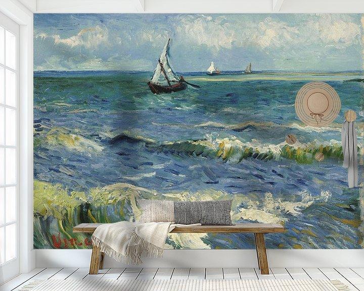 Beispiel fototapete: Seenlandschaft in der Nähe von Les Saintes-Maries-de-la-Mer - Vincent Van Gogh