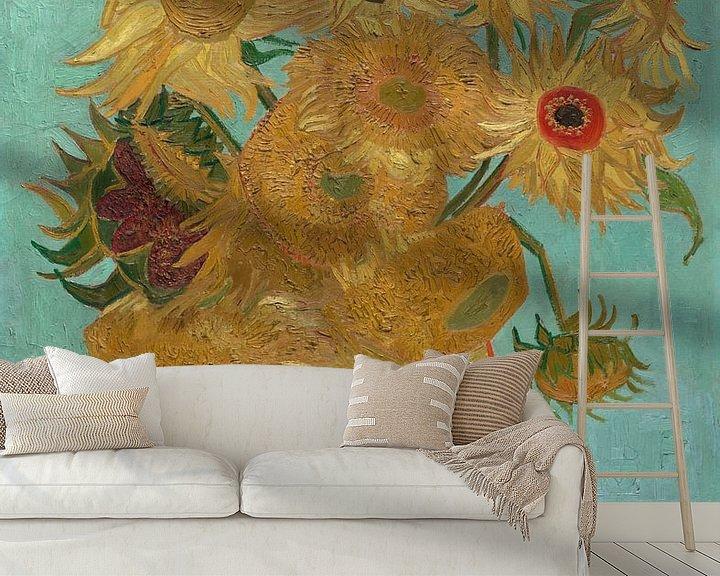 Beispiel fototapete: Zwölf Sonnenblumen - Vincent van Gogh