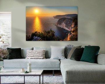 Keri Zakynthos zonsondergang van Dennis van de Water