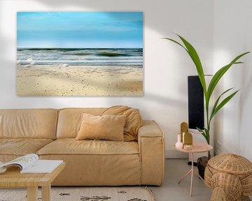 Het strand van Bergen aan Zee Noord-Holland van Nannie van der Wal