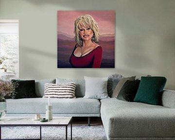 Dolly Parton schilderij 2 von Paul Meijering