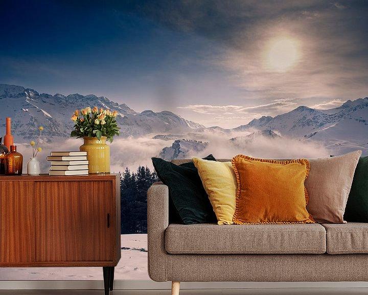 Sfeerimpressie behang: Above the clouds van Sander van Leeuwen