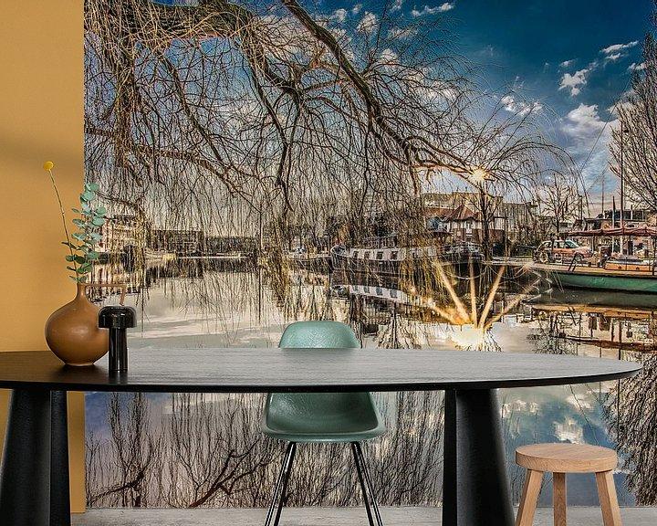 Sfeerimpressie behang: Leeuwarden Westerplantage van Harrie Muis