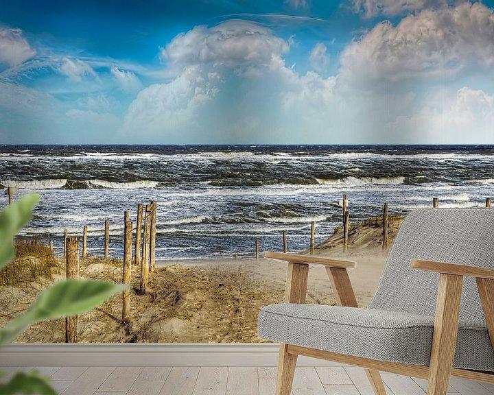 Sfeerimpressie behang: Pad door de duinen naar het strand van Peter Roder