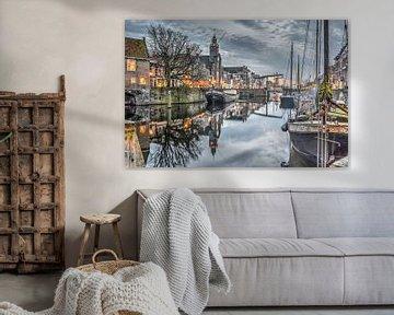 Schemering in Delfshaven, Rotterdam