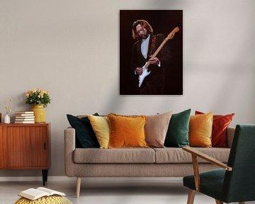 Eric Clapton Malerei von Paul Meijering
