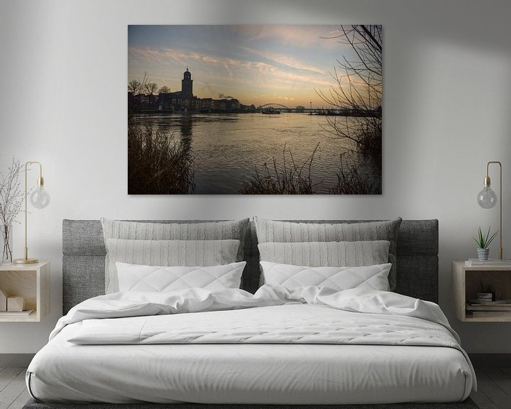 Beispiel: Zonsopkomst Deventer Skyline von Arjan Penning