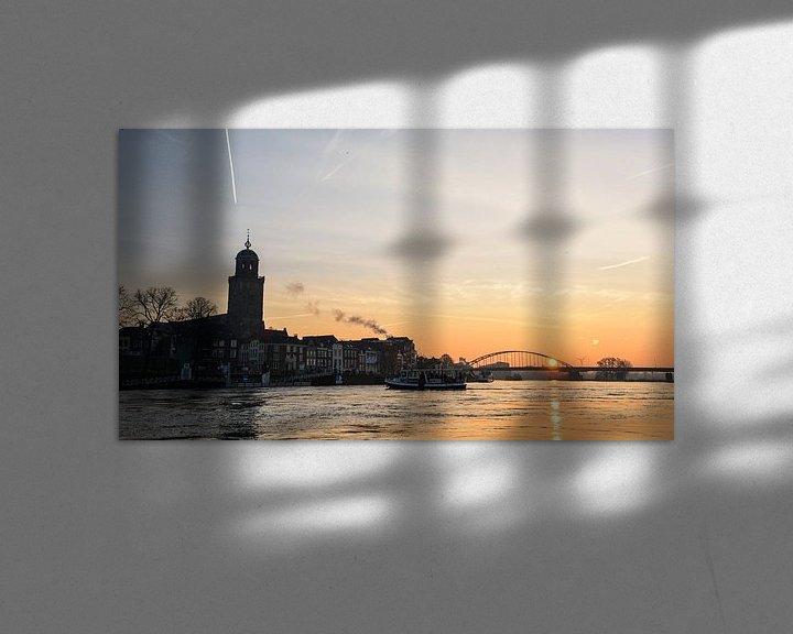 Impression: Zonsopkomst Deventer Skyline sur Arjan Penning