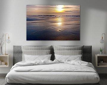 Golden coast sunset von Nannie van der Wal