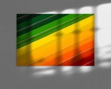 Conceptuele kleurpotloden als energielabel kleuren von Tonko Oosterink