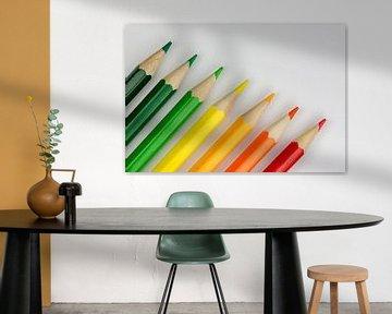 Conceptuele kleurpotloden als energielabel kleuren sur Tonko Oosterink