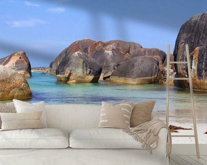 Sfeerimpressie behang: Idyllisch strand, Australië van Inge Hogenbijl
