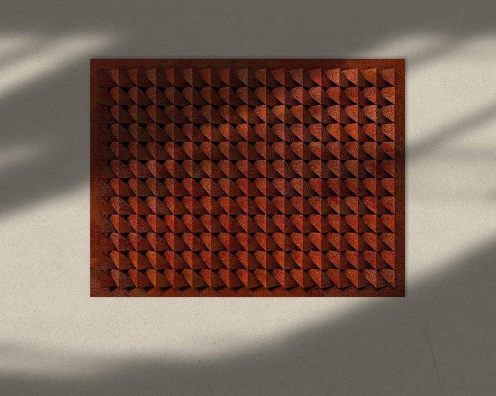 Sfeerimpressie: Reliëf A3 Cortenstaal van Frans Blok
