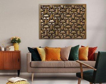 Relief B2 Holz von Frans Blok