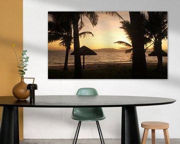Zonsopkomst in Fiji, Treasure Island van Chris Snoek