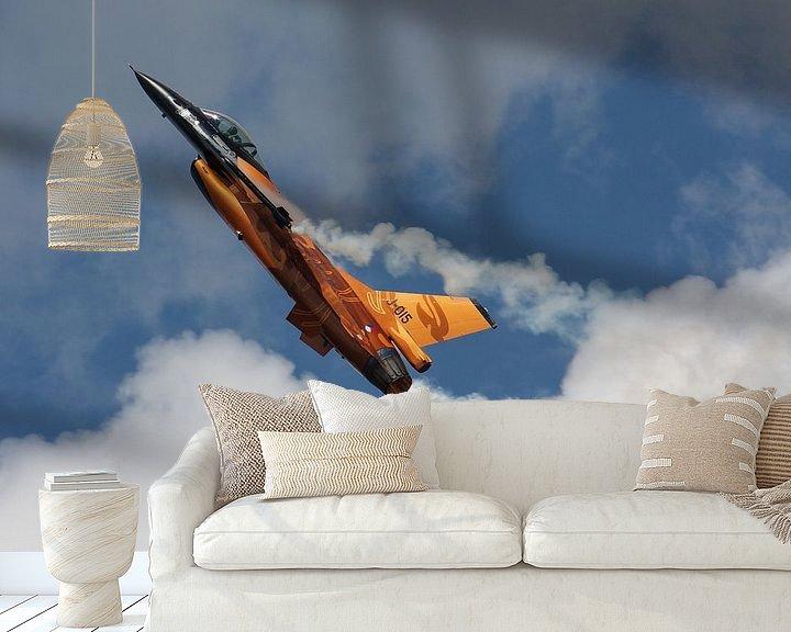 Sfeerimpressie behang: Koninklijke Luchtmacht F-16 Fighting Falcon van Dirk Jan de Ridder