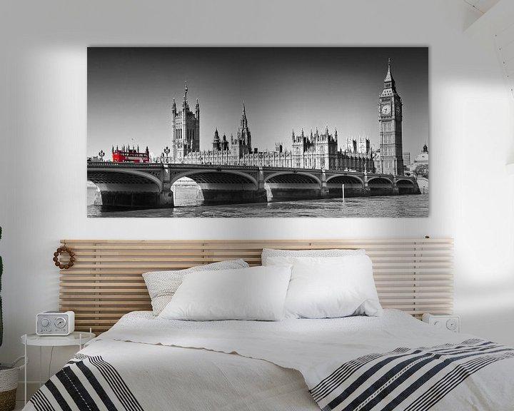 Sfeerimpressie: LONDON Westminster Bridge   Panoramic view van Melanie Viola