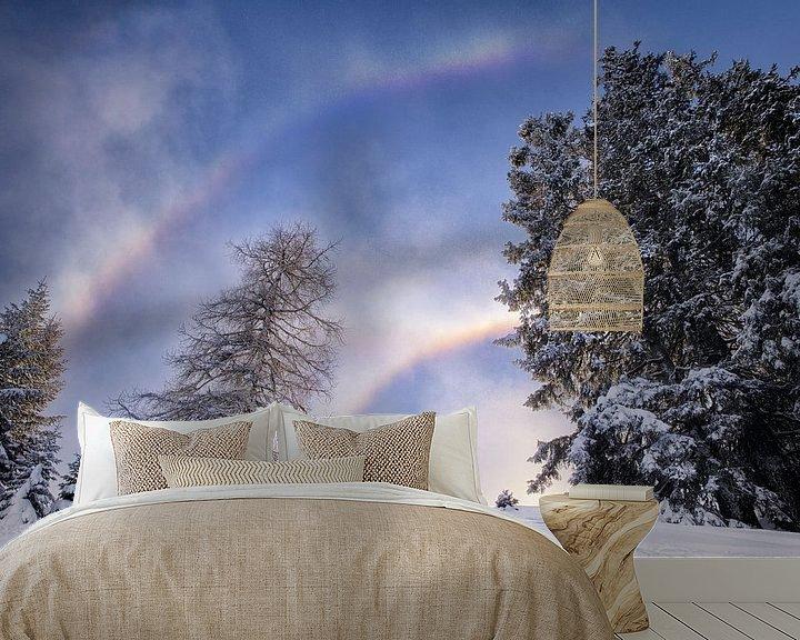 Sfeerimpressie behang: sneeuwboog van Fotografie Egmond