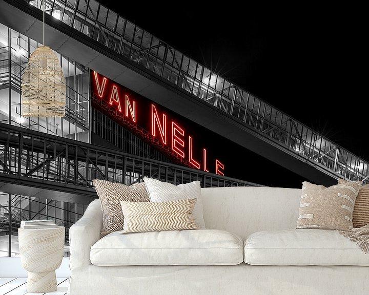 Sfeerimpressie behang: Van Nelle Fabriek in Rotterdam van MS Fotografie   Marc van der Stelt