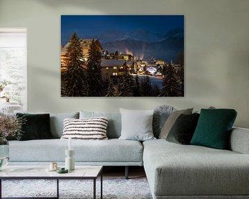 Oostenrijk - Avondfoto van Serfaus van Jack Koning