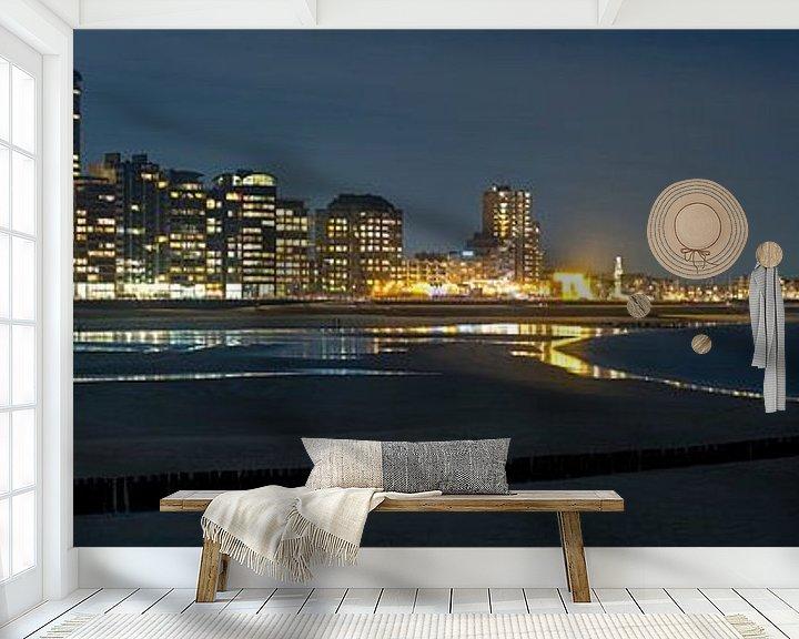 Sfeerimpressie behang: Panorama Vlissingen van Anton de Zeeuw