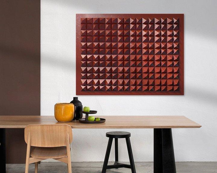 Sfeerimpressie: Reliëf C2 Rood Metallic van Frans Blok