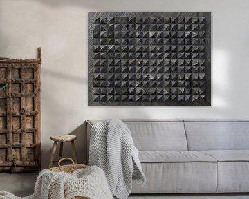 Relief C3 Schwarzer Kunststoff von Frans Blok