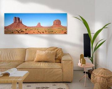 Fascinating Monument Valley | panoramic view van Melanie Viola
