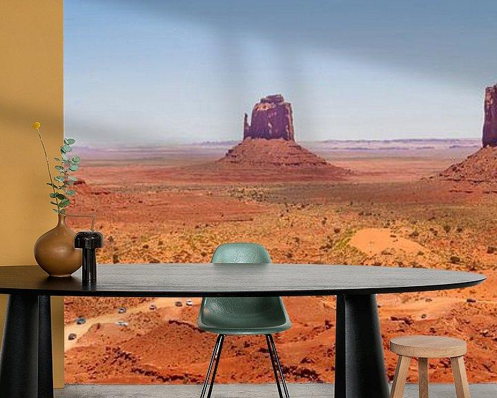 Sfeerimpressie behang: Gorgeous Monument Valley | panoramic view van Melanie Viola