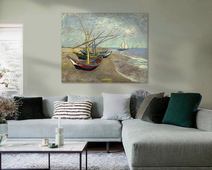 Sfeerimpressie: Vincent van Gogh. Vissersboten op het strand van Les Saintes-Maries-de-la-Mer, 1888