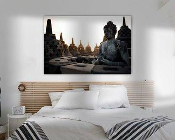 Borobudur bij zonsopkomst (Midden-Java, Indonesië) von Martijn Smeets